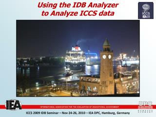 Using the IDB Analyzer to Analyze ICCS data