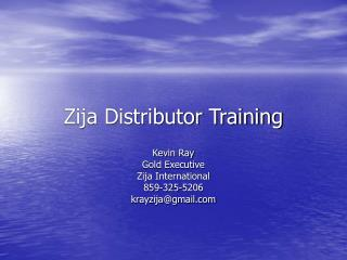 Zija Distributor Training