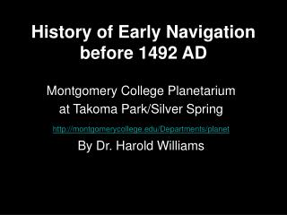 History of Early Navigation before 1492 AD