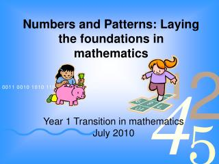 Numbers and Patterns: Laying the foundations in mathematics