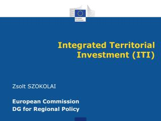 Integr ated Territorial Investment (ITI)