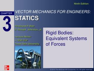 Rigid Bodies:  Equivalent Systems of Forces