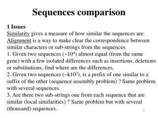 Sequences comparison