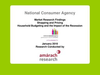 National Consumer Agency Market Research Findings Shopping and Pricing