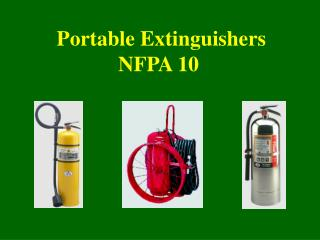 Portable Extinguishers NFPA 10