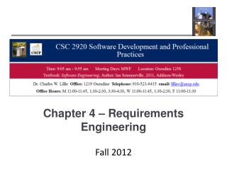 Chapter 4 – Requirements Engineering