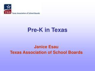 Pre-K in Texas
