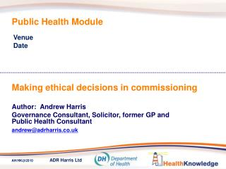 Public Health Module