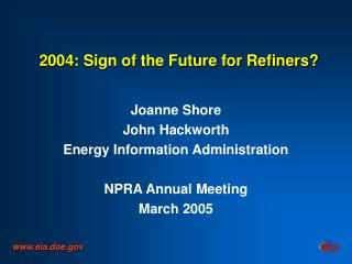 2004: Sign of the Future for Refiners?