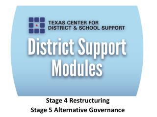 Stage 4 Restructuring Stage 5 Alternative Governance
