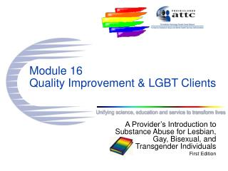 Module 16 Quality Improvement & LGBT Clients