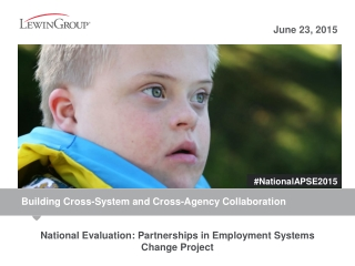 National Evaluation: Partnerships in Employment Systems Change Project