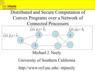 Distributed and Secure Computation of Convex Programs over a Network of Connected Processors