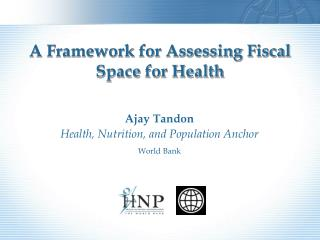 A Framework for Assessing Fiscal Space for Health