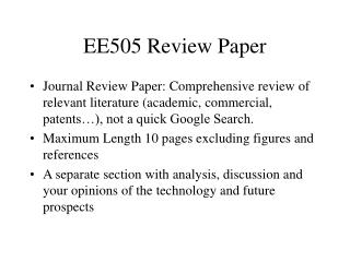 EE505 Review Paper