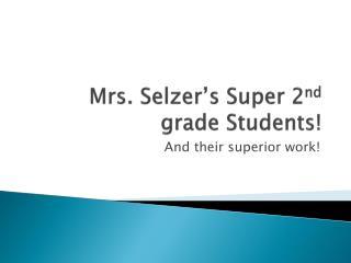 Mrs. Selzer's Super 2 nd grade Students!