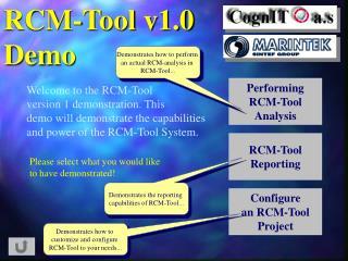 RCM-Tool v1.0 Demo