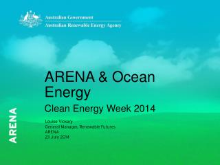 ARENA &  Ocean  Energy Clean Energy Week 2014