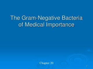 The Gram-Negative Bacteria of Medical Importance