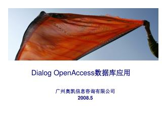 Dialog OpenAccess 数据库应用