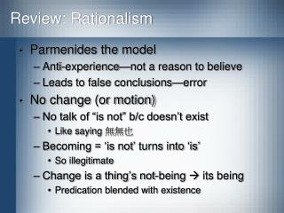 Review: Rationalism