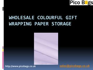 Colourful Wrapping Paper Storage for wrapping paper