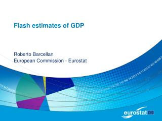 Flash estimates of GDP
