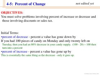 4-5:  Percent of Change