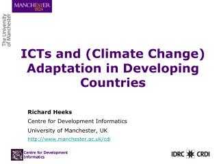 ICTs and (Climate Change) Adaptation in Developing Countries