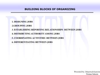 BUILDING BLOCKS OF ORGANIZING
