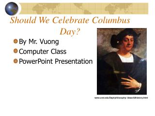Should We Celebrate Columbus Day?