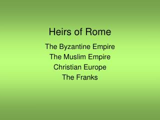 Heirs of Rome