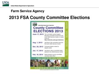 2013 FSA County Committee Elections