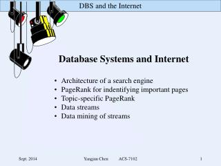 Database Systems and Internet