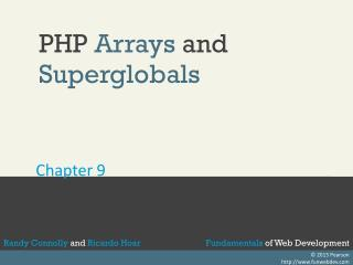 PHP  Arrays  and  Superglobals