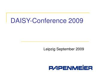 DAISY-Conference 2009
