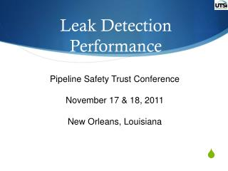 Leak Detection  Performance