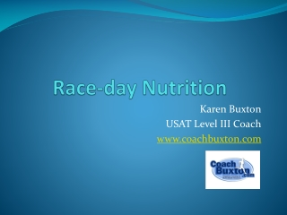 Nutrition for Endurance
