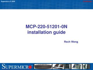 MCP-220-51201-0N  installation guide