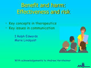 Benefit and harm: Effectiveness and risk