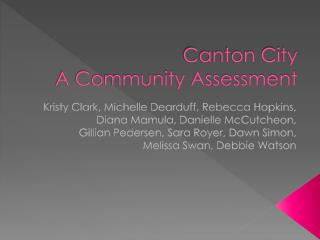 Canton City  A Community Assessment