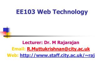 EE103 Web Technology