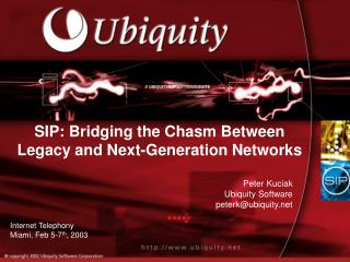SIP: Bridging the Chasm Between Legacy and Next-Generation Networks