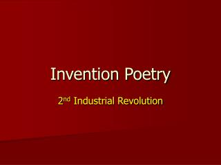 Invention Poetry