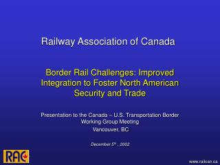 Railway Association of Canada