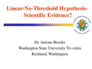 Dr. Antone Brooks Washington State University Tri-cities Richland, Washington