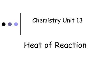 Chemistry Unit 13