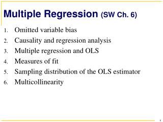 Multiple Regression  (SW Ch. 6)