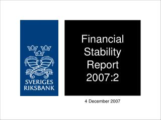 Financial Stability Report 2007:2