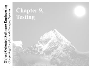 Chapter 9, Testing